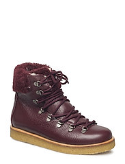 Boots - flat - with laces - 2544/2018 BORDEAUX/B. LAMB WOO