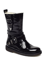 Boots - flat - with zipper - 1310/1604 BLACK/BLACK