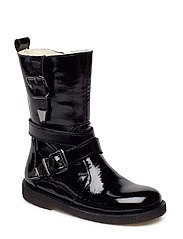 Boots - flat - with zipper - 1310/1604 BLACK/BLACK