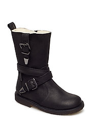 Booties - flat - with velcro - 2100/1604 BLACK/BLACK