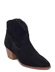 Booties - Block heel - with elas - 1163 BLACK