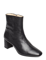 Bootie - block heel - with zippe - 1604 BLACK