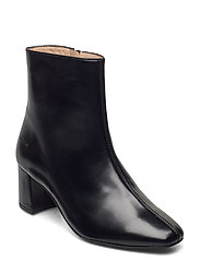 Bootie - block heel - with zippe - 1835 BLACK