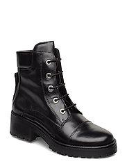 Booties - flat - 1835 BLACK