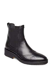 Booties - flat - with elastic - 1835/001 BLACK/BLACK