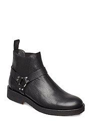 Booties - flat - with elastic - 2504/001 BLACK/BLACK
