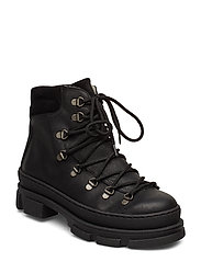 Boots - flat - with laces - 2100/1163 BLACK