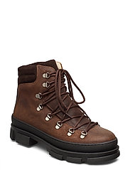Boots - flat - with laces - 2108/2193 DARK BROWN