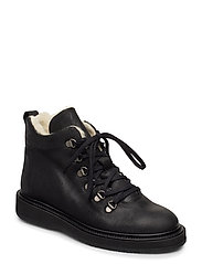 Boots - flat - with laces - 2100 BLACK