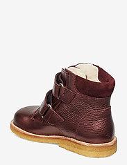 ANGULUS - Boots - flat - with velcro - lauflernschuhe - 1536/2195 bordeaux shine/b - 2