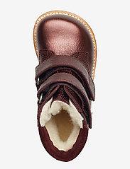 ANGULUS - Boots - flat - with velcro - lauflernschuhe - 1536/2195 bordeaux shine/b - 3