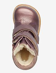 ANGULUS - Boots - flat - with velcro - lauflernschuhe - 1509/2202 lavender shine/laven - 3