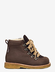 ANGULUS - Boots - flat - with lace and zip - lauflernschuhe - 1660/2193 d. brown/d. brown - 1