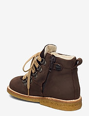 ANGULUS - Boots - flat - with lace and zip - lauflernschuhe - 1660/2193 d. brown/d. brown - 2