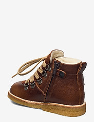 ANGULUS - Boots - flat - with lace and zip - pre-walkers - 2509/1166 medium brown/cognac - 2