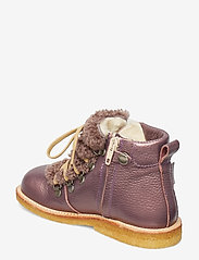 ANGULUS - Boots - flat - with lace and zip - winterstiefel - 1509/2029 lavender shine/lambs - 2