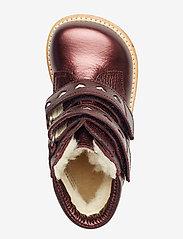 ANGULUS - Boots - flat - with velcro - lära-gå-skor - 1536/2012 bordeaux shine - 3