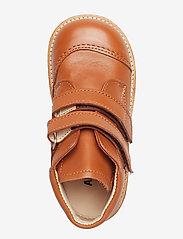 ANGULUS - Boots - flat - with velcro - lauflernschuhe - 1431 cognac - 3