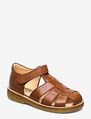 Sandals - flat - closed toe -  - 1838 COGNAC