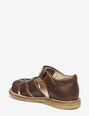 ANGULUS - Sandals - flat - closed toe -  - remsandaler - 2509 cognac - 0