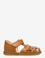 ANGULUS - Sandal with two buckles in front - sandals - 2621 cognac - 1
