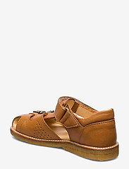 ANGULUS - Sandal with two buckles in front - sandals - 2621 cognac - 2