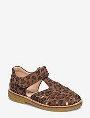 ANGULUS - Sandals - flat - closed toe -  - riemchensandalen - 2164 leopard - 0