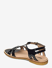 ANGULUS - Sandal with leather sole - flache sandalen - 2320 black - 2