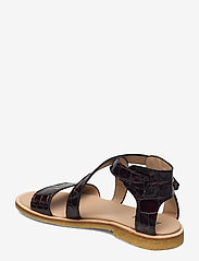 ANGULUS - Sandals - flat - open toe - op - flache sandalen - 1672 brown croco - 2