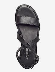 ANGULUS - 5442 - platta sandaler - 1604 black - 3
