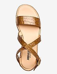 ANGULUS - 5442 - platta sandaler - 1671 tan krokodille - 3