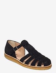 ANGULUS - Sandals - flat - closed toe - op - flache sandalen - 1163 black - 0