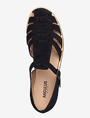 ANGULUS - Sandals - flat - closed toe - op - flache sandalen - 1163 black - 3