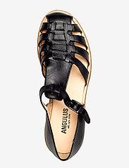 ANGULUS - Sandals - flat - closed toe - op - platta sandaler - 1604 black - 3