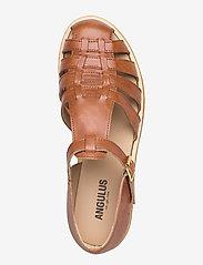 ANGULUS - Sandals - flat - closed toe - op - flade sandaler - 1789 tan - 3