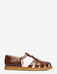 ANGULUS - Sandals - flat - closed toe - op - flache sandalen - 1837 brown - 1