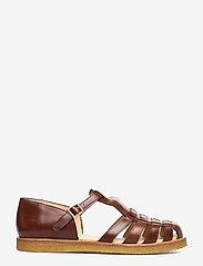 ANGULUS - Sandals - flat - closed toe - op - flade sandaler - 1837 brown - 1