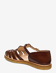 ANGULUS - Sandals - flat - closed toe - op - flache sandalen - 1837 brown - 2