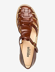 ANGULUS - Sandals - flat - closed toe - op - flache sandalen - 1837 brown - 3