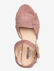 ANGULUS - Sandals - flat - flache sandalen - 2194 powder - 3