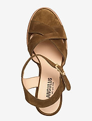 ANGULUS - Sandals - wedge - wedges - 2209 mustard - 3