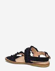 ANGULUS - Sandals - flat - open toe - op - platte sandalen - 1163 black - 2