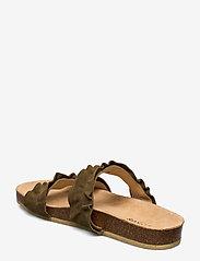 ANGULUS - Sandals - flat - open toe - op - platta sandaler - 2207 khaki - 2