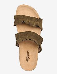 ANGULUS - Sandals - flat - open toe - op - platta sandaler - 2207 khaki - 3