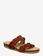 ANGULUS - Sandals - flat - open toe - op - platta sandaler - 2208 rust - 0