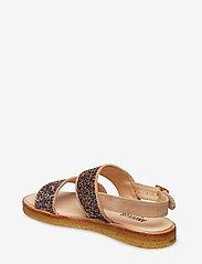 ANGULUS - Sandals - flat - open toe - op - flache sandalen - 1149/2488 sand/multi glitter - 2