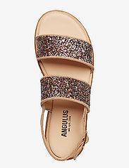 ANGULUS - Sandals - flat - open toe - op - flache sandalen - 1149/2488 sand/multi glitter - 3