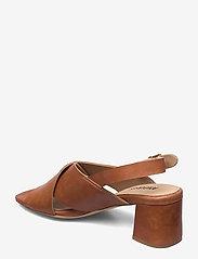 ANGULUS - Sandals - Block heels - højhælede sandaler - 1789 tan - 2