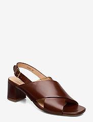 ANGULUS - Sandals - Block heels - sandalen met hak - 1837 brown - 0