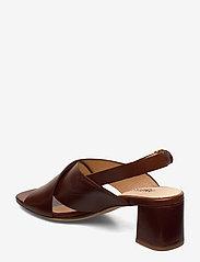 ANGULUS - Sandals - Block heels - sandalen met hak - 1837 brown - 2